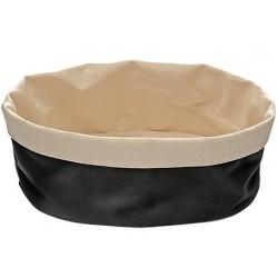 Katoenen broodmand ovaal beige-zwart