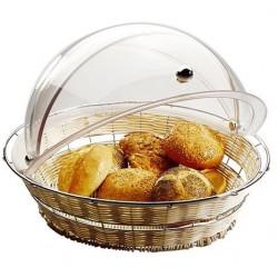 Broodmand rond, verchroomd frame